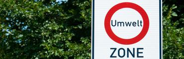 Umweltzone-Schild, Textfreiraum